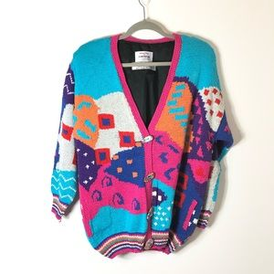 Alfonso Pozo Colorful Knit Cardigan Sweater